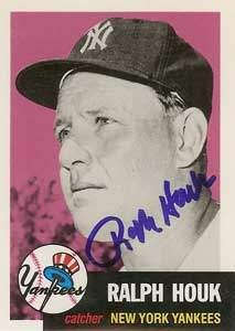 Ralph 'The Major' Houk Autograph on a 1991 Topps Archives Baseball Card (#282 | <a href='../baseball_cards/baseball_cards_oneset.php?s=1991top05' title='1991 Topps Archives Baseball Card Checklist'>Checklist</a>)