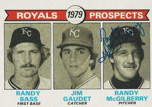 Randy McGilberry Autograph on a 1979 Topps (#707)