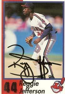 Reggie Jefferson Autograph on a 1993 Cleveland Indians Anniversary Card