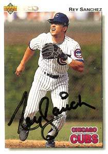 Rey Sanchez Autograph on a 1992 Upper Deck (#562)