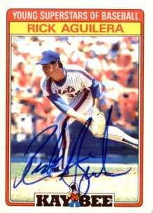 Rick Aguilera Autograph on a 1986 Kay Bee (#1)