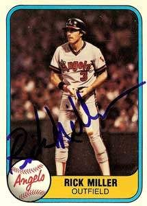 Rick Miller Autograph on a 1981 Fleer (#279)
