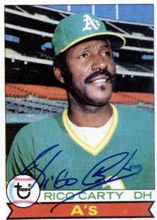 Rico Carty Autograph on a 1979 Topps Baseball Card (#565)