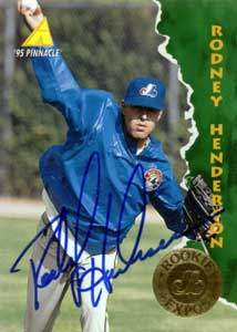 Rodney Henderson Autograph on a 1995 Pinnacle (#418)