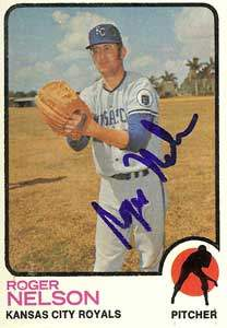 Roger Nelson Autograph on a 1973 Topps (#251)