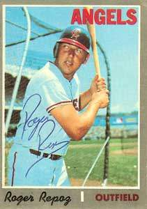 Roger Repoz Autograph on a 1970 Topps Baseball Card (#397 | <a href='../baseball_cards/baseball_cards_oneset.php?s=1970top01' title='1970 Topps Baseball Card Checklist'>Checklist</a>)