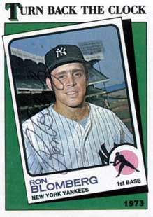 Ron Blomberg Autograph on a 1988 Topps Baseball Card (#663 | <a href='../baseball_cards/baseball_cards_oneset.php?s=1988top08' title='1988 Topps Baseball Card Checklist'>Checklist</a>)