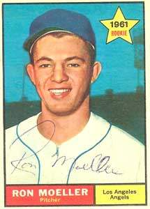 Ron Moeller Autograph on a 1961 Topps Baseball Card (#466 | <a href='../baseball_cards/baseball_cards_oneset.php?s=1961top01' title='1961 Topps Baseball Card Checklist'>Checklist</a>)