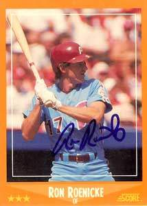 Ron Roenicke Autograph on a 1988 Score (#566)
