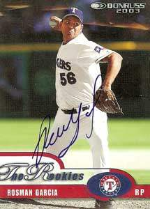 Rosman Garcia Autograph on a 2003 Donruss (#20)