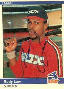 Rudy Law Autograph on a 1984 Fleer (#67)