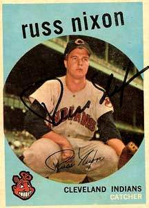 Russ Nixon Autograph on a 1959 Topps Baseball Card (#344 | <a href='../baseball_cards/baseball_cards_oneset.php?s=1959top01' title='1959 Topps Baseball Card Checklist'>Checklist</a>)