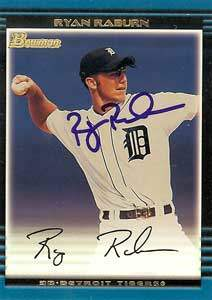 Ryan Raburn Autograph on a 2002 Bowman (#244)