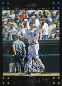 Ryan Shealy Autograph on a 2007 Topps (#199)