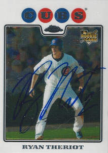 Ryan Theriot Autograph on a 2008 Topps Chrome (#172)