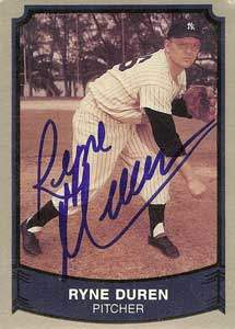 Ryne Duren Autograph on a 1989 Pacific Trading (#141)
