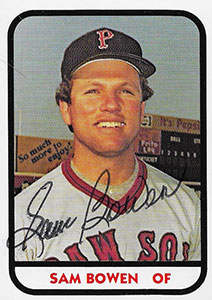 Sam Bowen Autograph on a 1981 TCMA Baseball Card (#18)