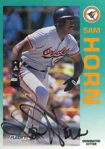 Sam Horn Autograph on a 1992 Fleer (#10)