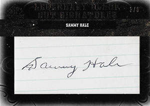Sammy Hale Autograph on a 2011 Upper Deck Legendary Cuts Baseball Card (#PHKC-SH)