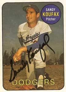 Sandy Koufax Autograph on a 1986 Sports Design (#17)