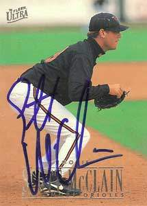 Scott McClain Autograph on a 1996 Fleer Ultra (#306)