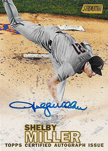 Shelby Miller Autograph on a 2016 Topps Stadium Club Baseball Card (#SCA-5MR)