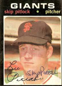 Skip Pitlock Autograph on a 1971 Topps (#19)
