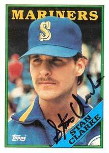Stan Clarke Autograph on a 1988 Topps Baseball Card (#556 | <a href='../baseball_cards/baseball_cards_oneset.php?s=1988top08' title='1988 Topps Baseball Card Checklist'>Checklist</a>)