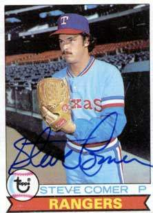 Steve Comer Autograph on a 1979 Topps (#463)