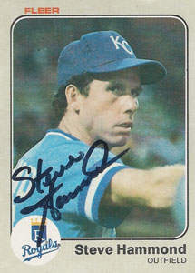 Steve Hammond Autograph on a 1983 Fleer Baseball Card (#114 | <a href='../baseball_cards/baseball_cards_oneset.php?s=1983fle01' title='1983 Fleer Baseball Card Checklist'>Checklist</a>)