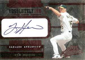 Tim Hudson Autograph on a 2003 Playoff (#AI-27)