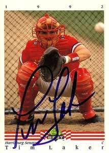 Tim Laker Autograph on a 1992 Classic Best (#125)