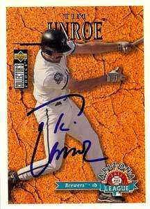 Tim Unroe Autograph on a 1996 Collector's Choice (#662)