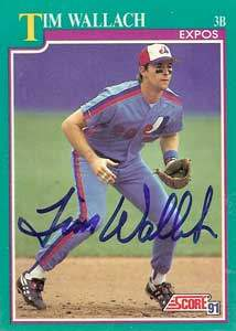 Tim 'Eli' Wallach Autograph on a 1991 Score Baseball Card (#210 | <a href='../baseball_cards/baseball_cards_oneset.php?s=1991sco01' title='1991 Score Baseball Card Checklist'>Checklist</a>)