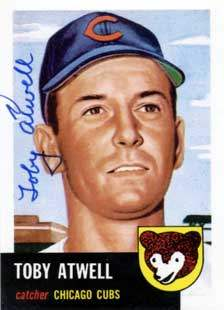 Toby Atwell Autograph on a 1991 Topps Archives Baseball Card (#23 | <a href='../baseball_cards/baseball_cards_oneset.php?s=1991top05' title='1991 Topps Archives Baseball Card Checklist'>Checklist</a>)