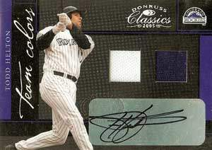 Todd Helton Autograph on a 2005 Donruss Classics Baseball Card (#4)
