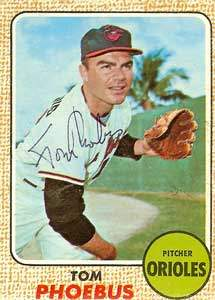 Tom Phoebus Autograph on a 1968 Topps (#97 | <a href='../baseball_cards/baseball_cards_oneset.php?s=1968top01' title='1968 Topps Baseball Card Checklist'>Checklist</a>)