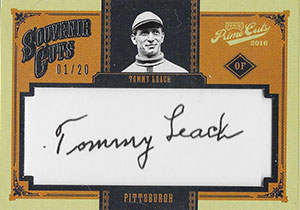 Tommy Leach Autograph on a 2016 Panini Prime Cuts Baseball Card (#SC-TL)