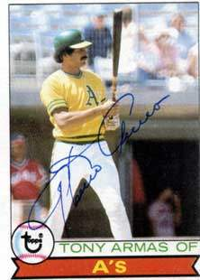 Tony Armas Autograph on a 1979 Topps (#507)