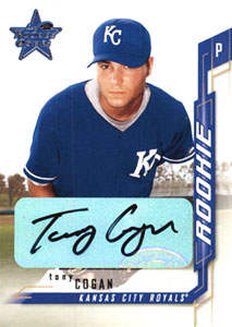 Tony Cogan Autograph on a 2001 Leaf Rookies (#223)