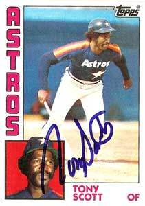 Tony Scott Autograph on a 1984 Topps (#292)