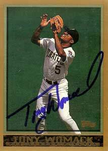 Tony Womack Autograph on a 1998 Topps Baseball Card (#105)