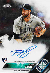 Tony Zych Autograph on a 2016 Topps Chrome Baseball Card (#RA-TZ)