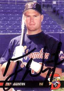 Ty Wigginton Autograph on a 2000 Blueline Baseball Card (#29)