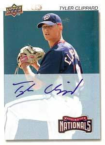Tyler Clippard Autograph on a 2008 Upper Deck (#130)