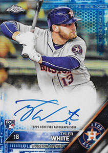 Tyler White Autograph on a 2016 Topps Chrome Baseball Card (#RA-TW)