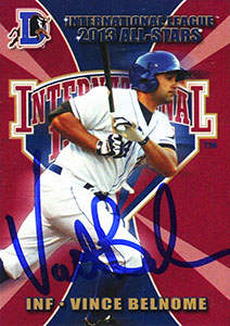 Vince Belnome Autograph on a 2013 International League All Star Card