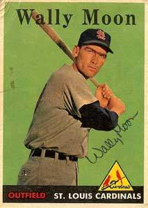 Wally Moon Autograph on a 1958 Topps Baseball Card (#210 | <a href='../baseball_cards/baseball_cards_oneset.php?s=1958top01' title='1958 Topps Baseball Card Checklist'>Checklist</a>)