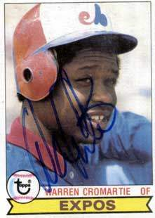 Warren Cromartie Autograph on a 1979 Topps (#76)