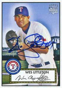 Wes Littleton Autograph on a 2006 Topps (#92)